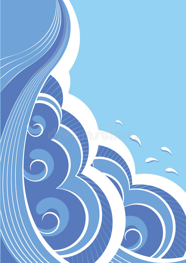 Abstract sea waves. Vector stock images