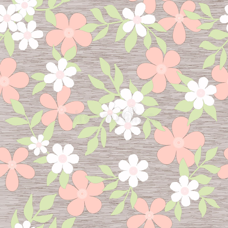 Abstract seamless background floral pattern stock illustration