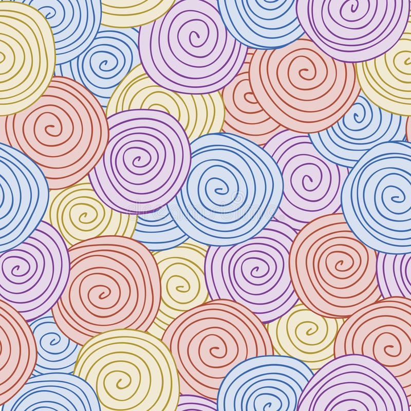 Download Abstract Seamless Background, Spiral Pattern Stock Vector - Illustration: 27029918