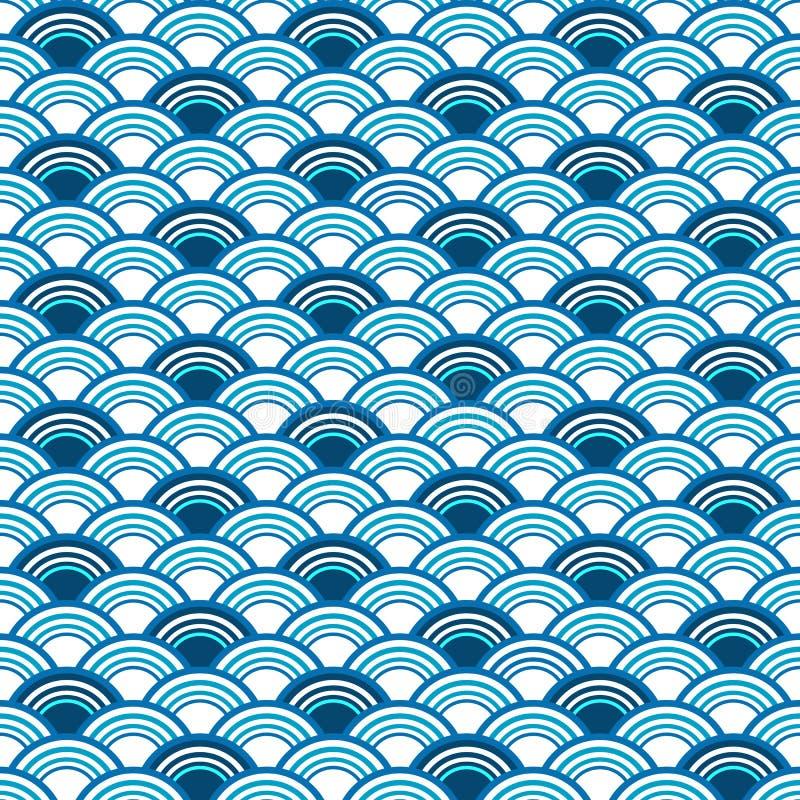Abstract seamless blue pattern vector illustration