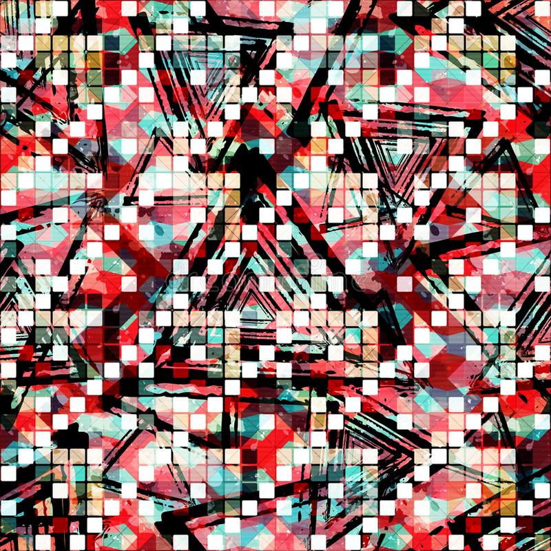 Abstract seamless color pattern in graffiti style. Quality vector illustration for your design vector illustration