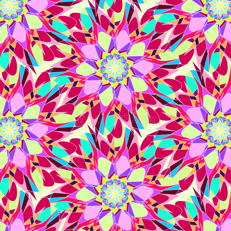 Abstract Seamless Colorful Pattern Ornamental background royalty free stock photography
