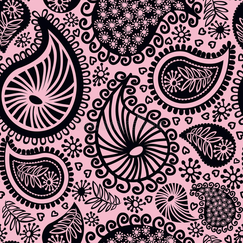 Download Abstract Seamless Doodle Pattern Stock Illustration - Illustration of decorative, fashioned: 24245880