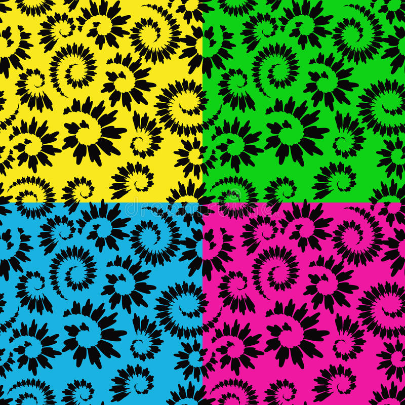 Abstract seamless floral stock illustration