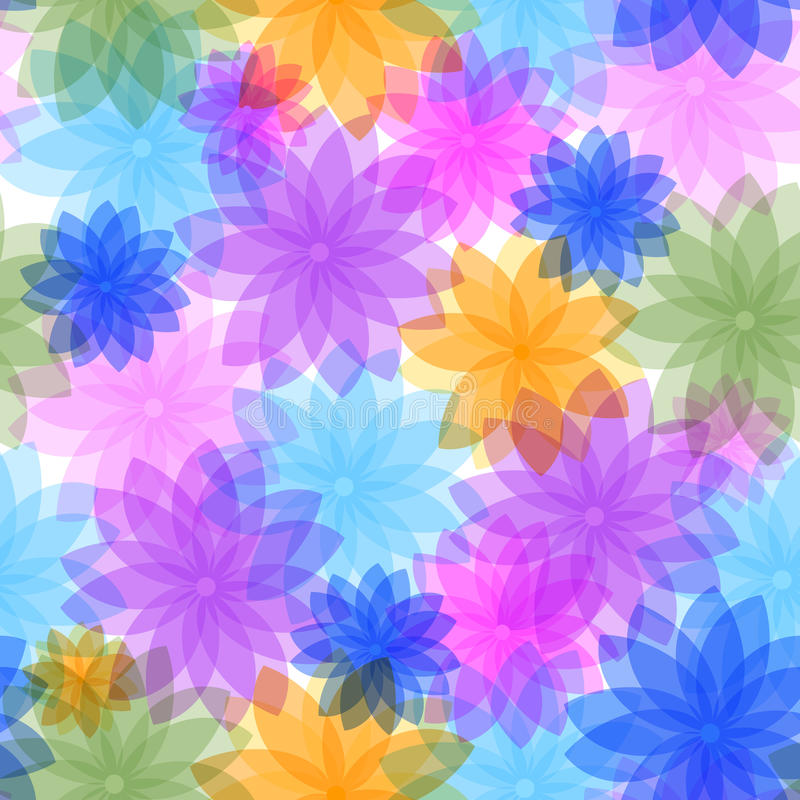 Abstract seamless floral pattern royalty free illustration