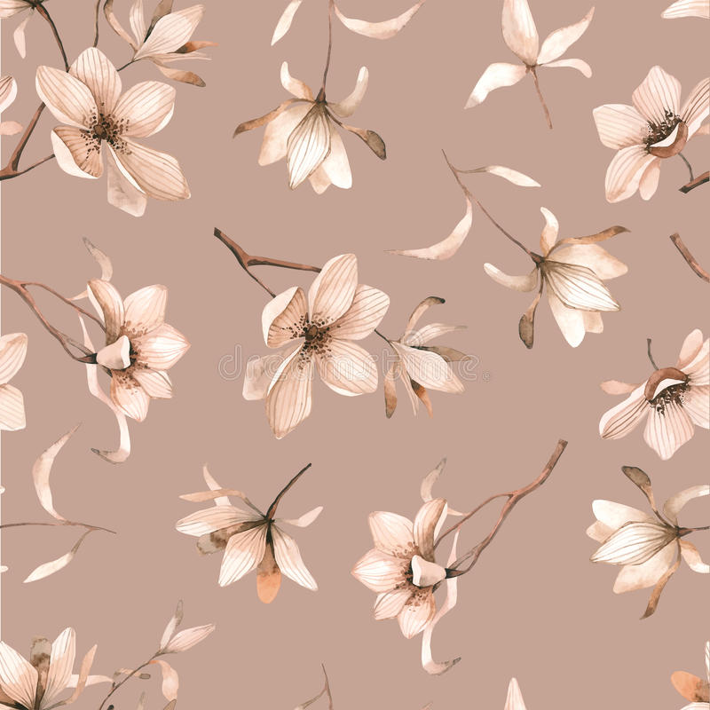 Abstract seamless floral pattern with of red roses and pink and blue freesia on black background. vector illustration