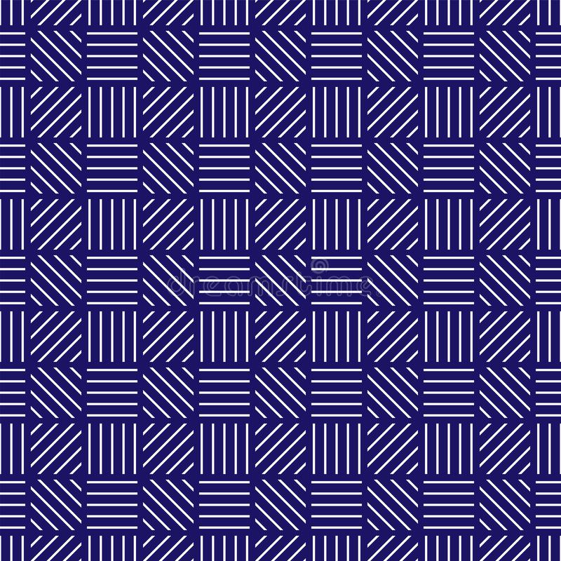 Abstract seamless geometric background. Pattern of lines stock illustration