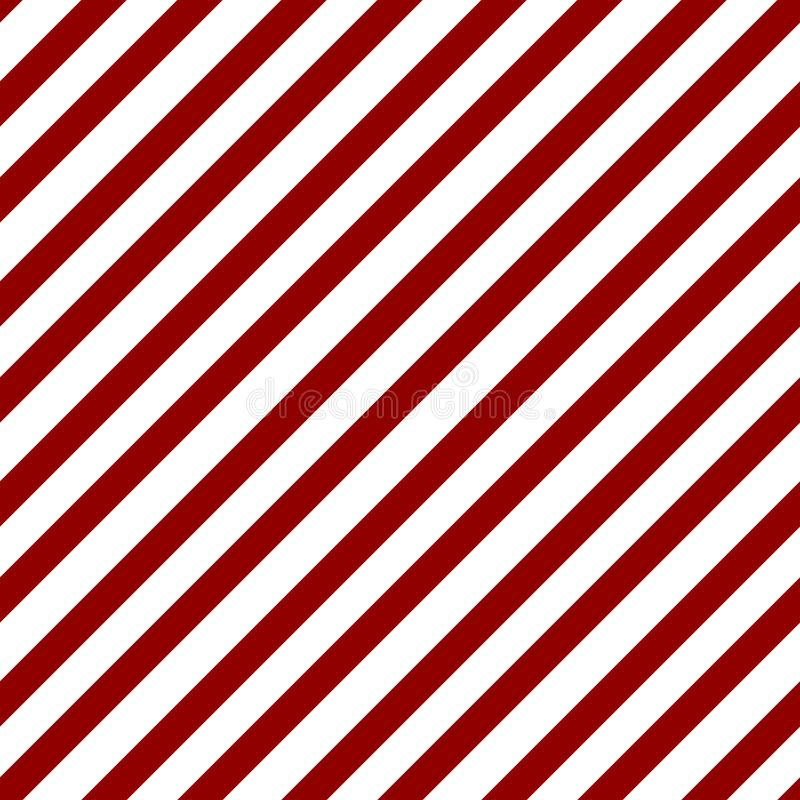 Abstract Seamless geometric diagonal striped pattern with red and white stripes. Vector illustration stock illustration