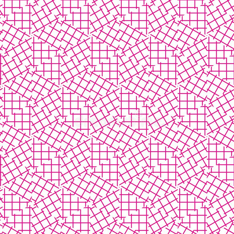 Abstract Seamless Geometric Ornament Pattern Of Grid Lines Graphic Design Background Vector Illustration stock illustration