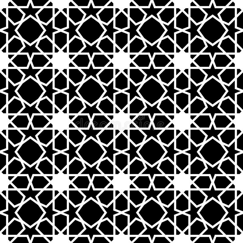 Abstract Seamless geometric pattern stock illustration