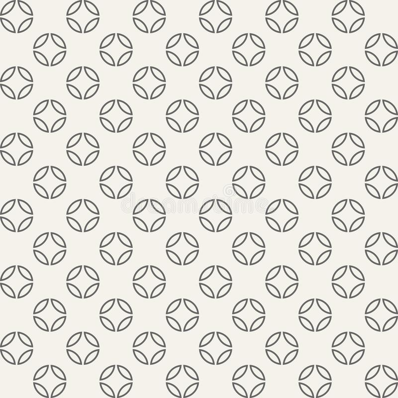 Abstract seamless geometric pattern of circles divided into four royalty free illustration