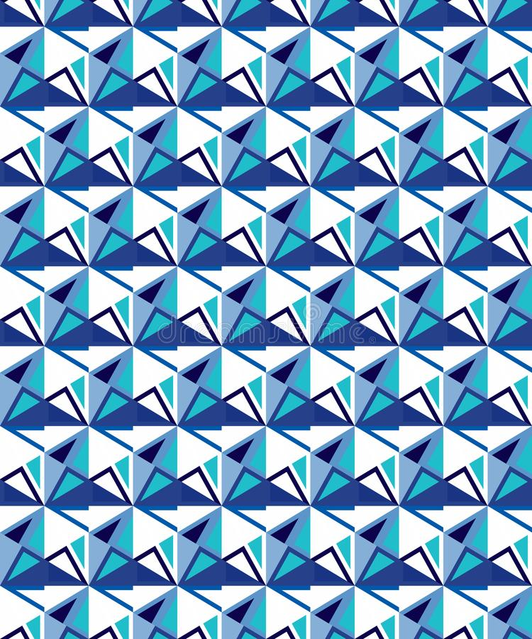 Abstract seamless geometric pattern. Figures with many angles. Directional movement vector illustration