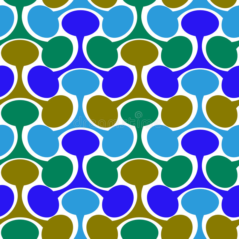 Abstract Seamless geometric pattern. Round and triangular geometric pattern. Seamless tile royalty free illustration