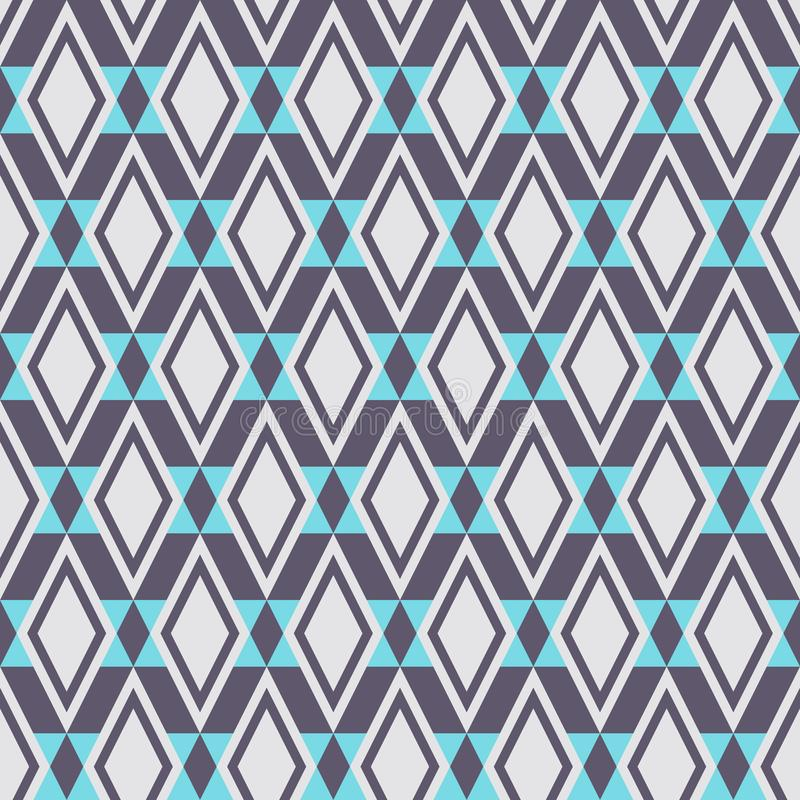 Abstract seamless geometric rhombuses pattern. Stylish texture. Pastel colors. Minimalistic flat design. Vector background vector illustration
