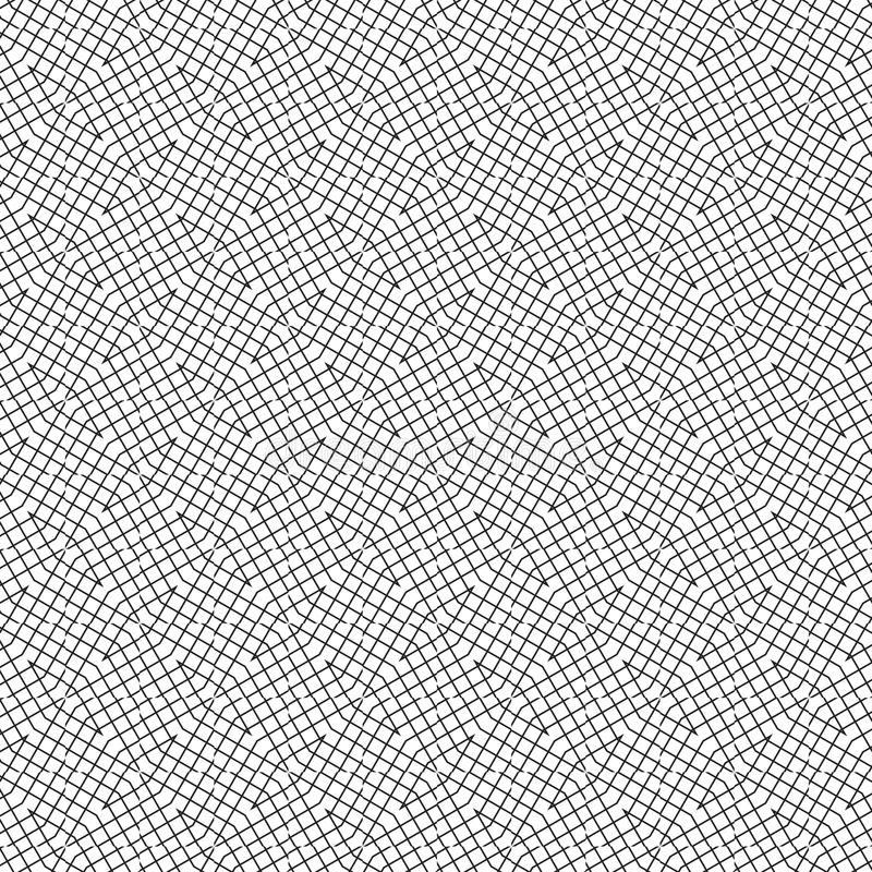 Abstract Seamless Geometric Simple Pattern Of Grid Lines Graphic Design Background Vector Illustration royalty free illustration