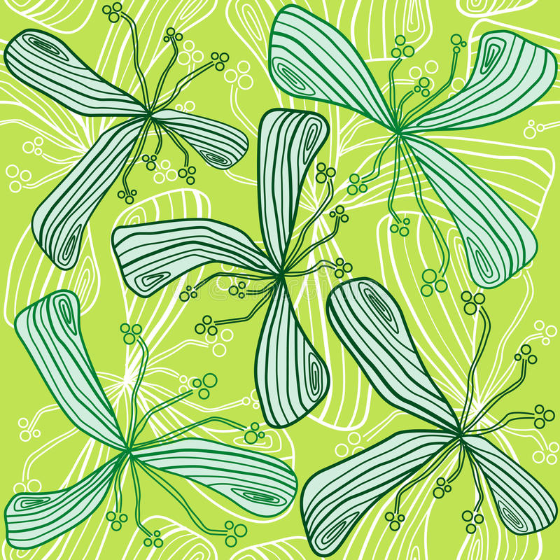 Download Abstract Seamless Green Flower Royalty Free Stock Images - Image: 22820109
