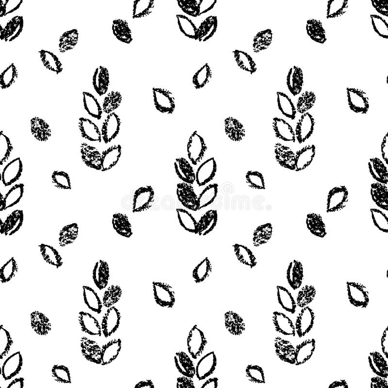 Abstract Seamless Hand Drawn Pattern. Modern Grunge