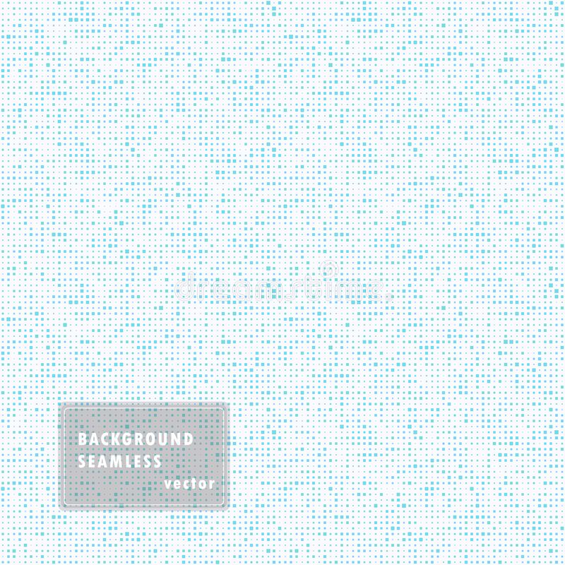 Abstract seamless illustration of halftone squares. Monochrome repeating geometric elements. Vector template, overlay. Isolated. Abstract seamless illustration royalty free illustration