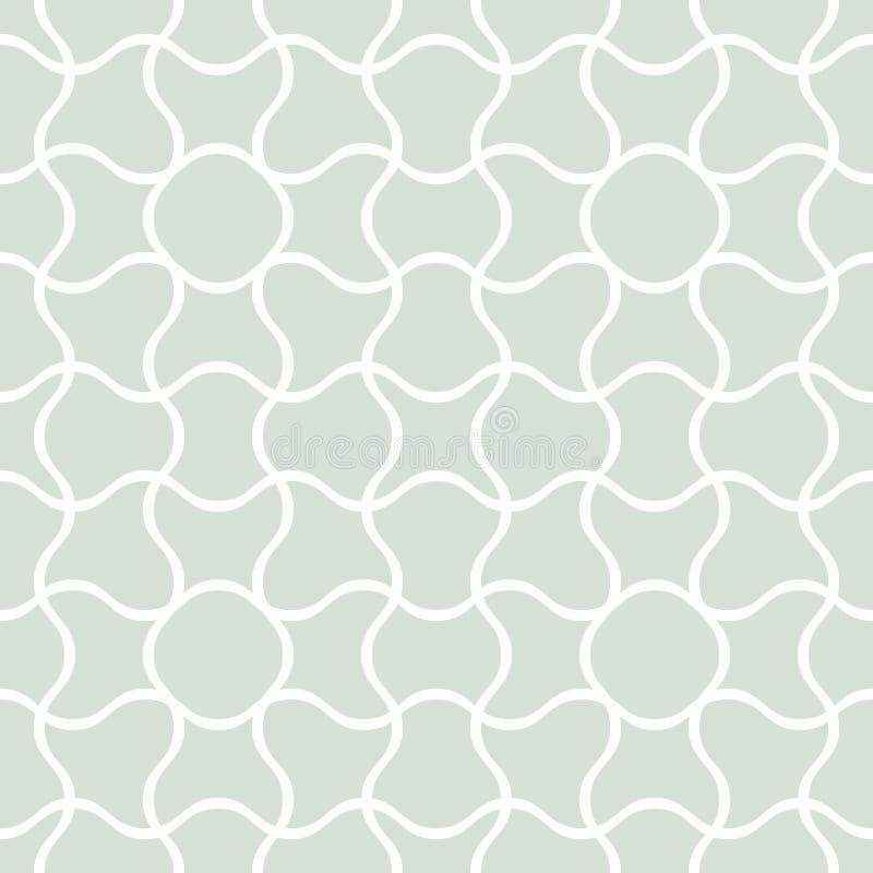 Abstract Seamless interlocking pattern vector illustration