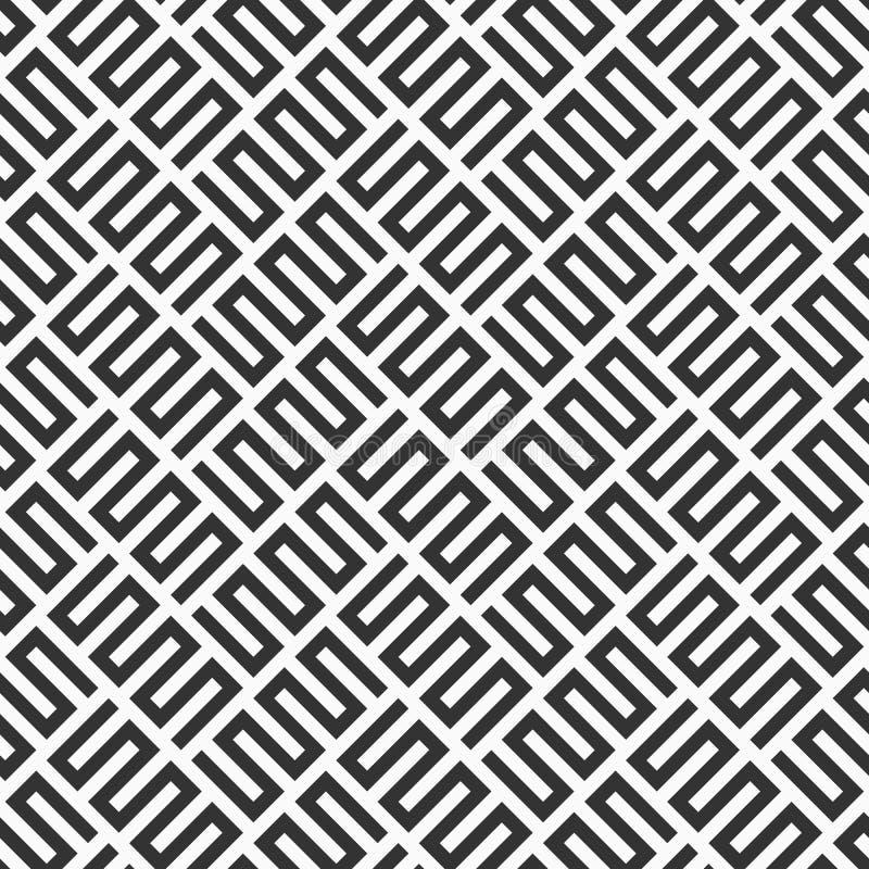 Abstract seamless lattice zigzag pattern. Modern stylish texture with trellis. Geometric grid. Diagonal arrangement. vector illustration