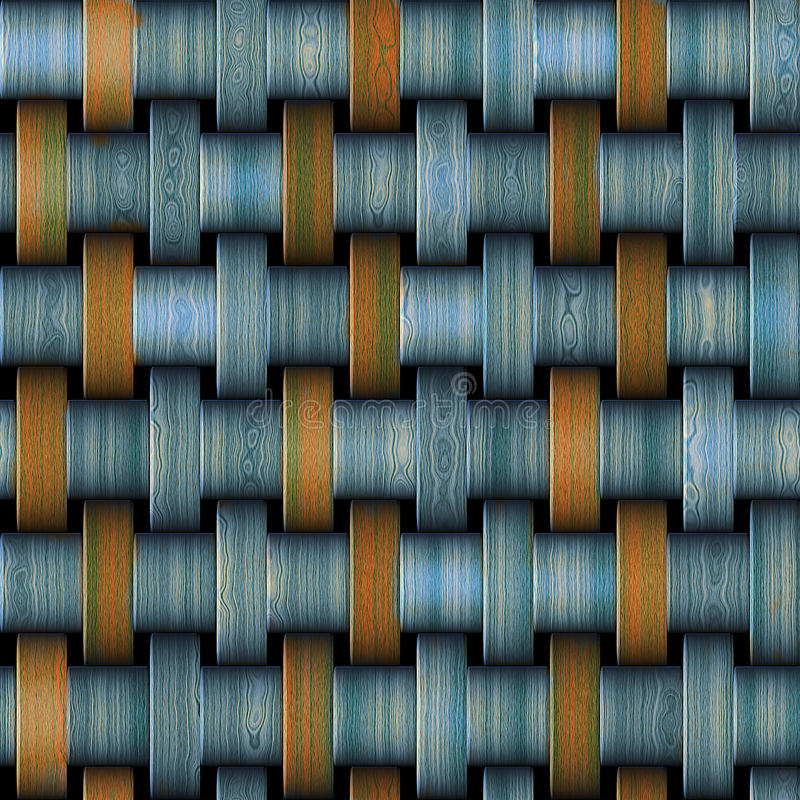 Abstract seamless metal pattern with rusty strips stock illustration