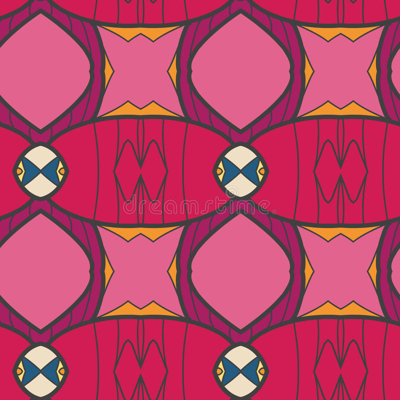 Abstract seamless ornament pattern. the kaleidoscope effect. Ethnic damask motif. Vintage style pattern. Vector illustration vector illustration