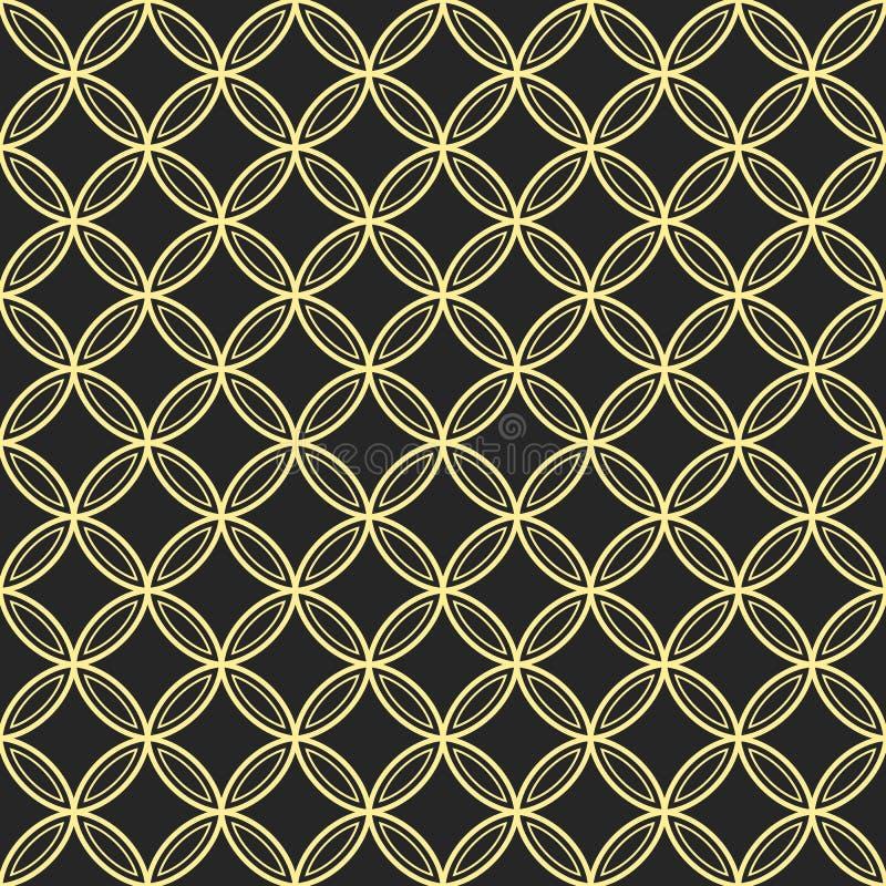 Abstract seamless ornamental quatrefoil pattern. Vector geometric lattice background royalty free illustration