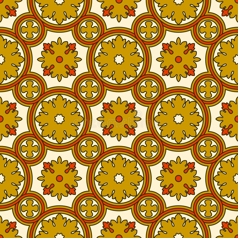 Abstract seamless ornamental vector pattern royalty free illustration