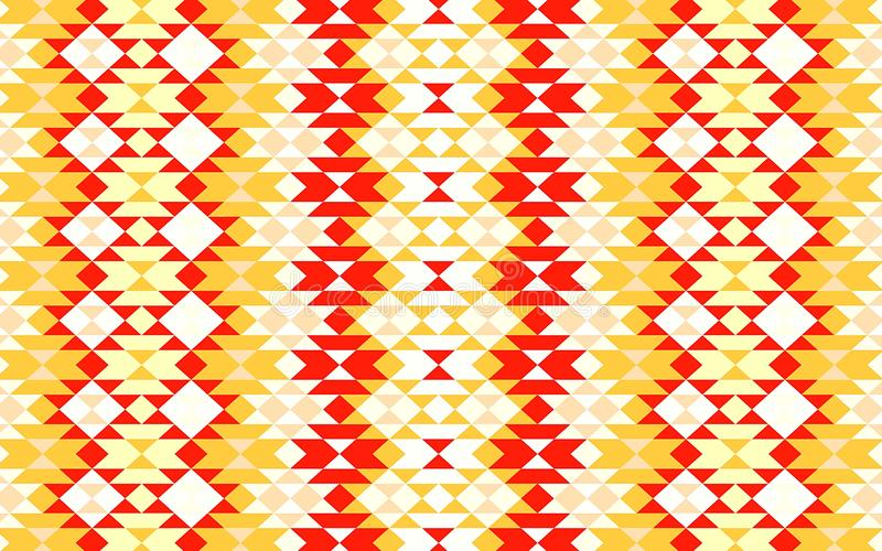 Abstract seamless pacolors seamless pattern for textile and design. Illustration. Concept, art, print, orange, creative, graphic, geometric, template, blanket royalty free illustration