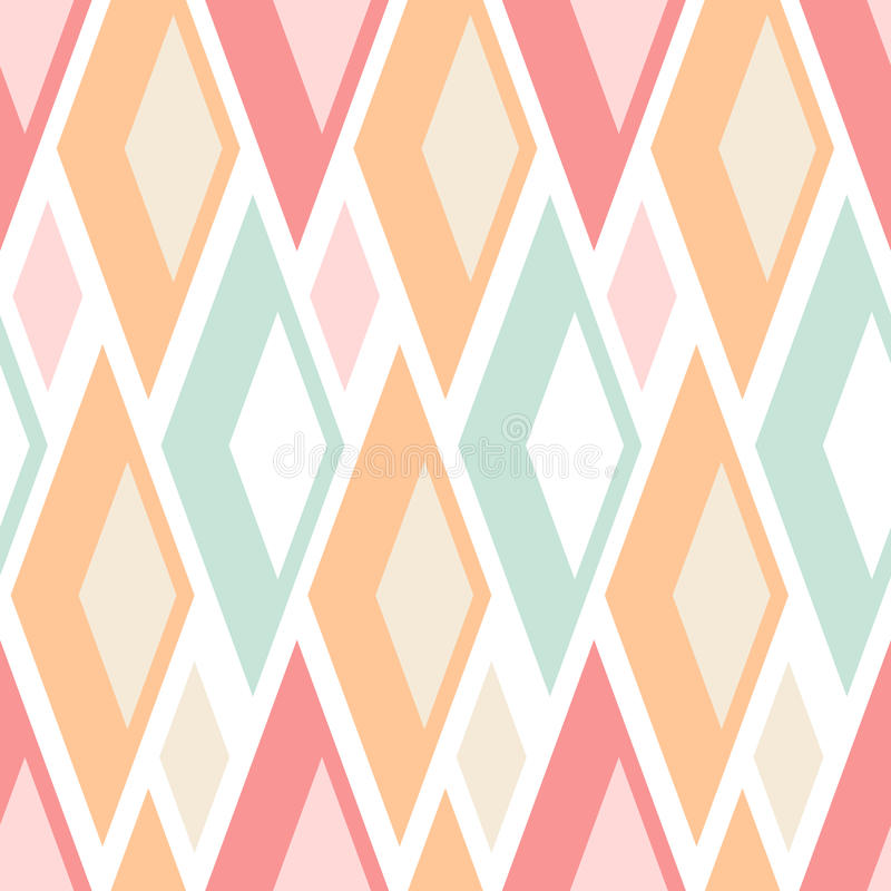 Abstract seamless pastel triangles pattern on white royalty free illustration