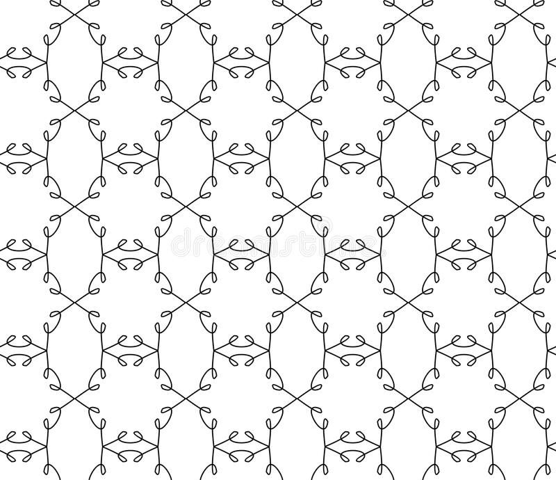 Abstract seamless patterns. Abstract seamless pattern background geometric black and white stock illustration