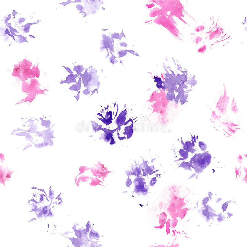 Free Abstract Seamless Pattern - Black Ink Prints With Messy Dog Paws. Creative Monochrome Backdrop With Regular Animal Footprints Royalty Free Stock Photo - 92375785