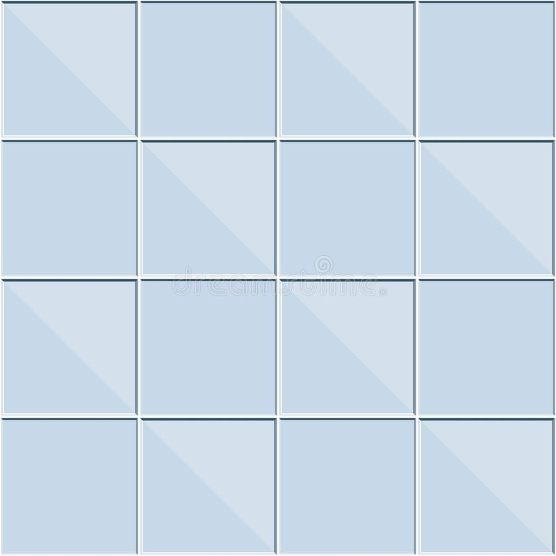 Abstract seamless pattern, blue ceramic tiles wall or glass block vector illustration royalty free illustration