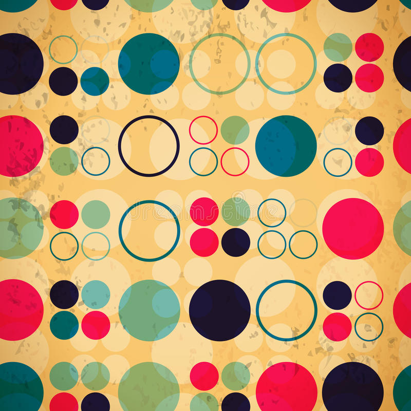 Abstract seamless pattern of circles vector illustration