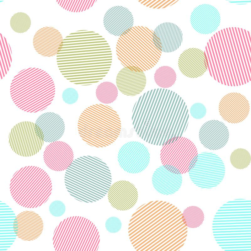 Abstract seamless pattern with colorful circles shapes royalty free stock images