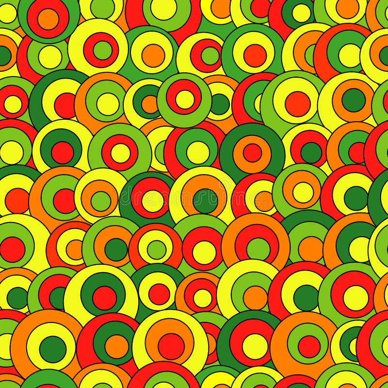 Abstract seamless pattern with colorful circles. Vector abstract seamless pattern with colorful circles stock illustration