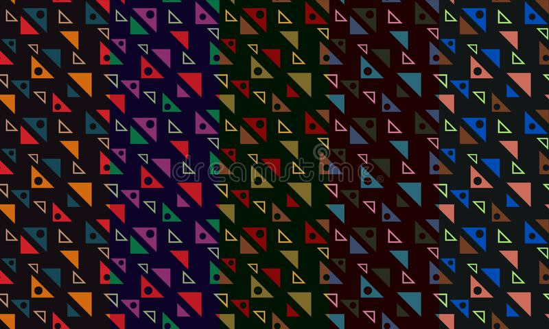 Abstract seamless pattern with colorful triangles. Diagonal ornament for textile, prints, wallpaper, wrapping paper, web etc. Available in EPS vector illustration