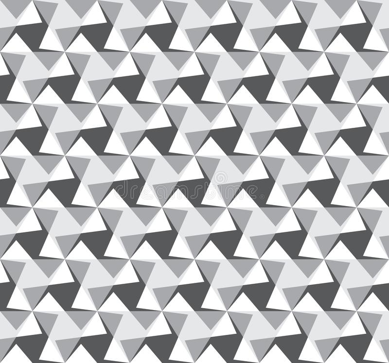 Abstract seamless pattern from corners. Optical illusion of movement. Calm image building. Clear connections and uniform movement. Monochrome pattern for your royalty free illustration