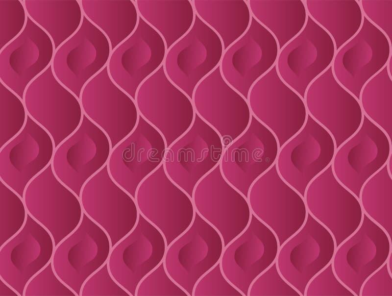 Abstract wavy vinous elegant seamless pattern vector illustration