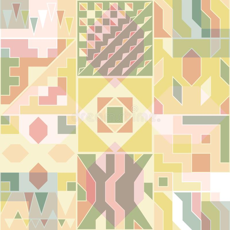 Abstract seamless pattern for design of gift packs, patterns fabric royalty free illustration