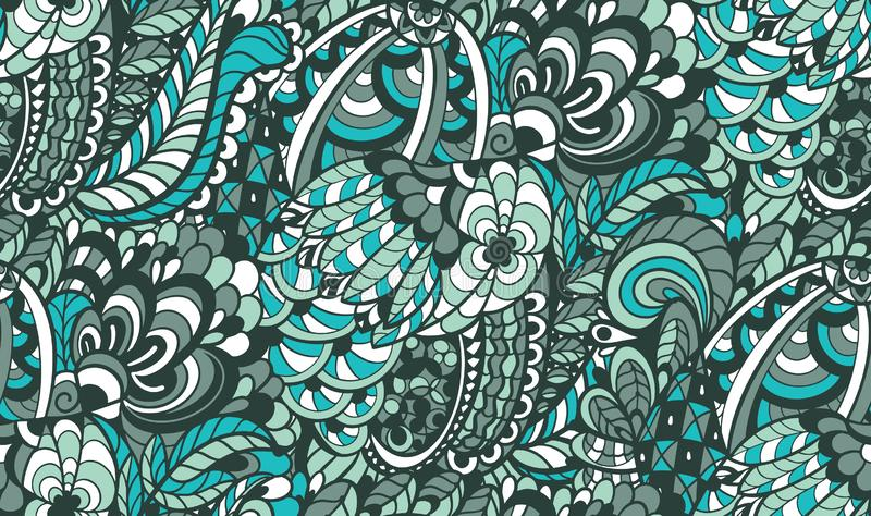 Abstract seamless pattern in doodle style vector illustration
