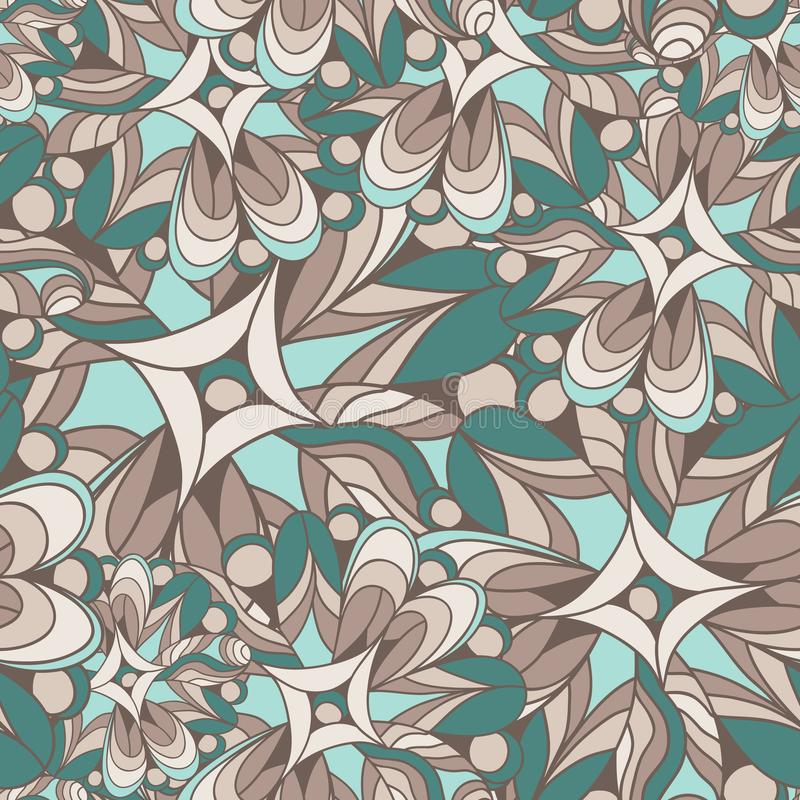 Abstract seamless pattern of fantastic colors. Overlay elements on top of each other. Movement forms vector illustration