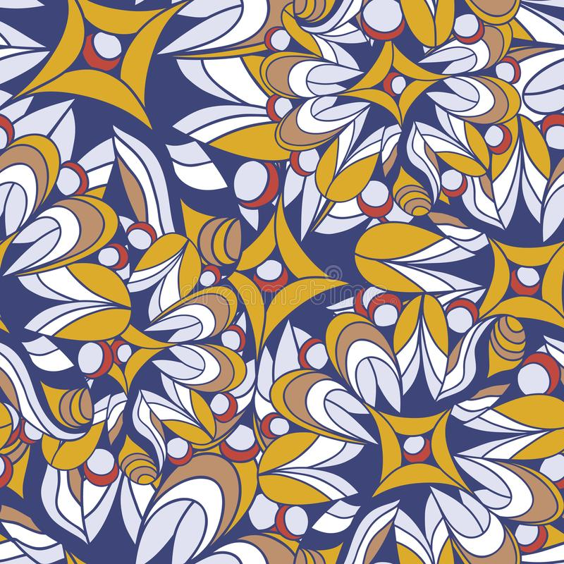 Abstract seamless pattern of fantastic colors. Overlay elements on top of each other. Movement forms stock illustration