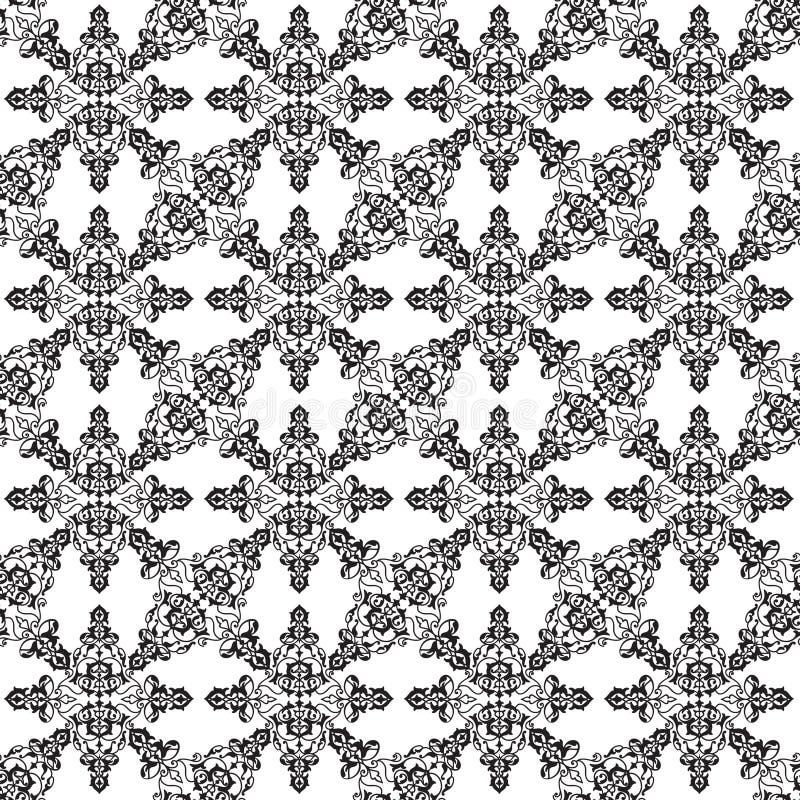 Abstract seamless pattern Floral arabic geometric flower shape l stock illustration