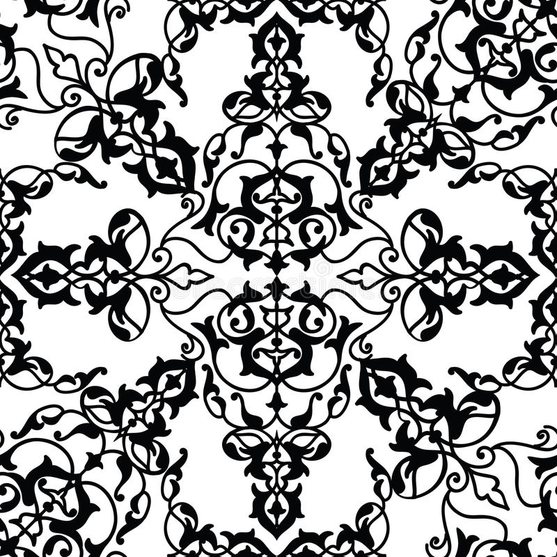 Abstract seamless pattern Floral arabic geometric flower shape l vector illustration
