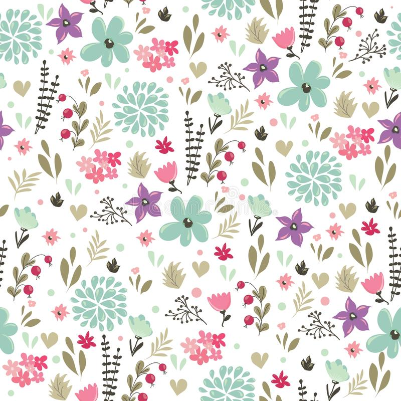 Abstract seamless pattern with floral background. Vector illustration vector illustration