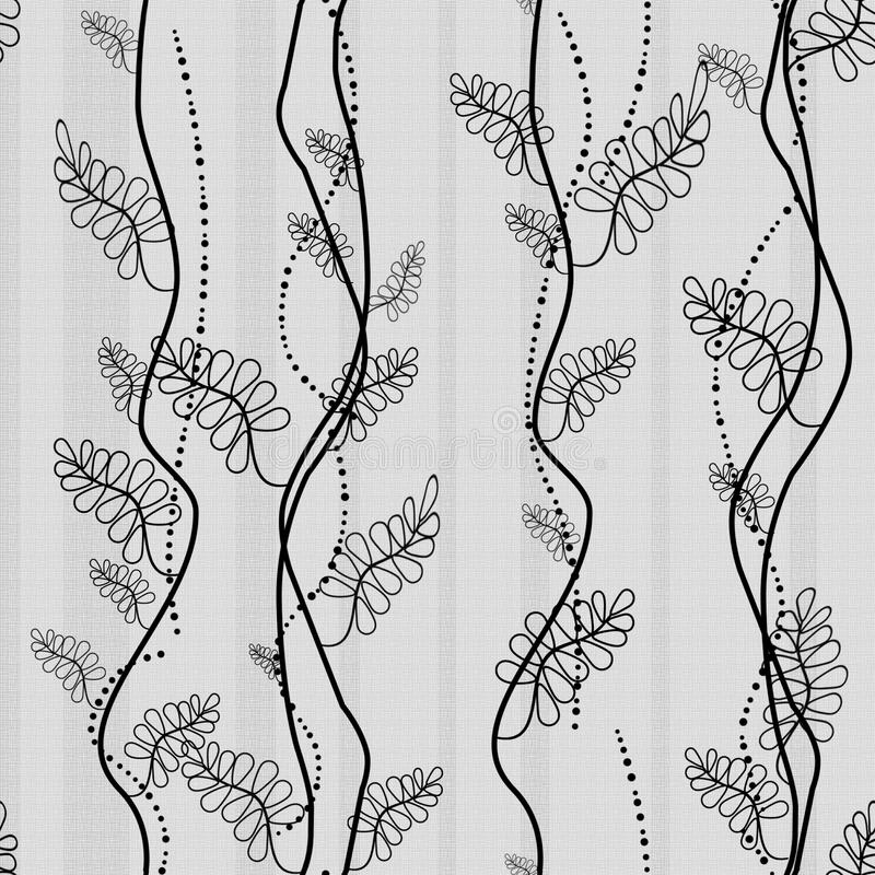 Abstract seamless pattern. Abstract seamless floral pattern with leaves royalty free illustration