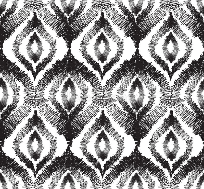 Abstract seamless pattern Floral orienal geometric line stock illustration