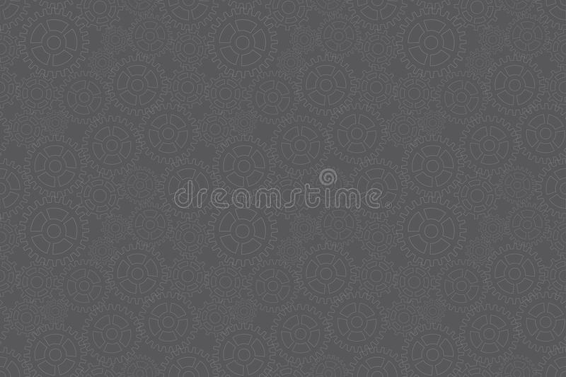 Pattern With Gears Royalty Free Stock Images