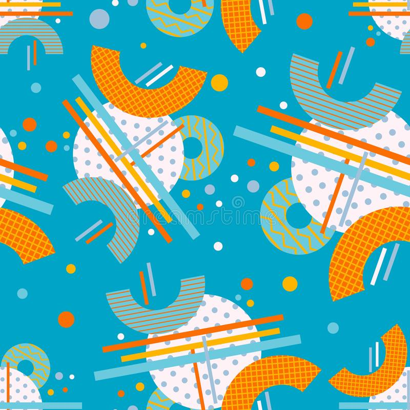Abstract seamless pattern. Geometric composition. Modern background design stock illustration